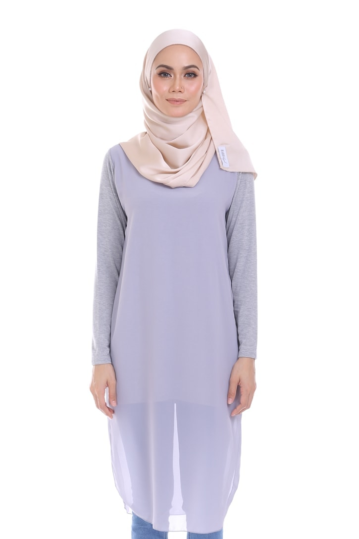 Habra blouse muslimah foxy flair comfort