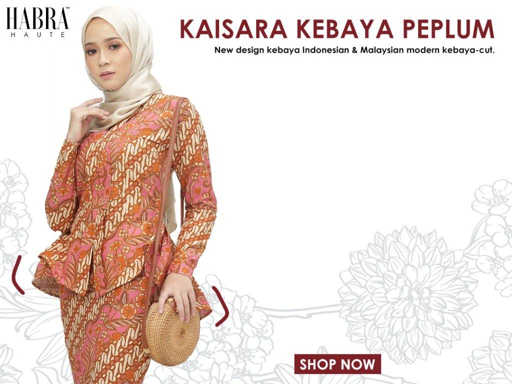 habra haute kaisara kebaya batik peplum kebaya melaka batik indonesia malaysia mobile