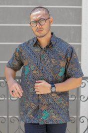 habra haute khaled kemeja batik lelaki melaka jawa indonesia