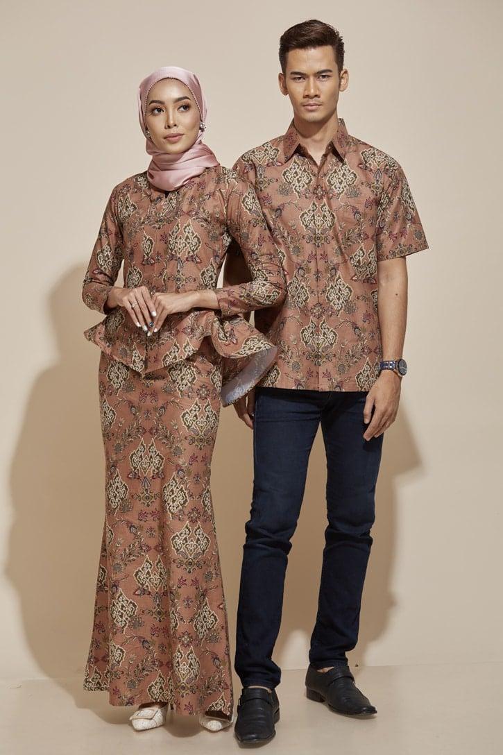 habra haute kaisara kebaya peplum batik indonesia batik malaysia kebaya moden premium kurung moden couple set