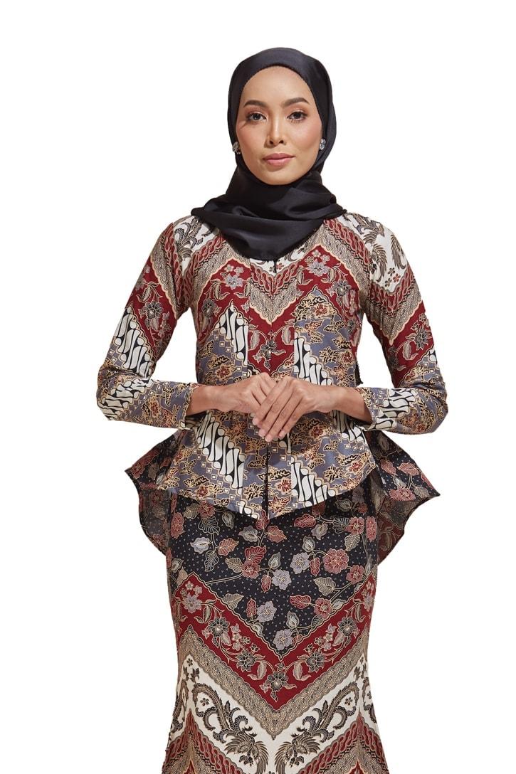 Kaisara Kebaya Peplum Batik Code KS11 HABRA Fashion