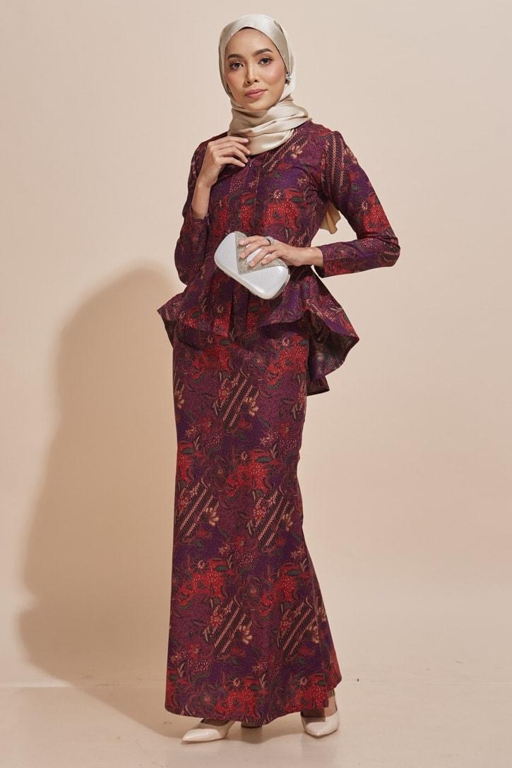 Habra Haute Kaisara Kebaya Peplum Batik Kebaya Moden Kebaya Modern Baju Kurung Batik Baju Kebaya Malaysia Batik Malaysia Batik Indonesia Koleksi Raya 2019 KS15