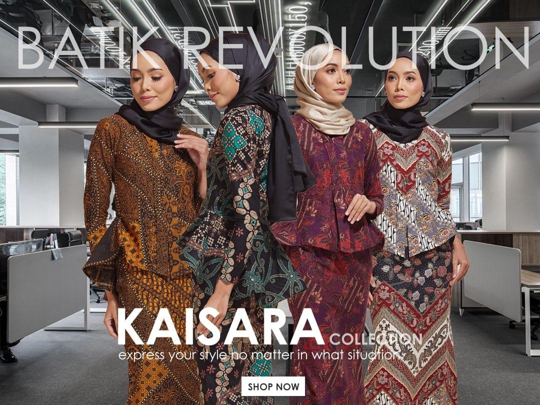 Habra Haute Kaisara Kebaya Peplum Batik Kebaya Moden Kebaya Modern Koleksi Raya 2019 Batik Indonesia Batik Malaysia Mobile