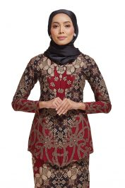Habra Haute Kara Kebaya Batik Kebaya Moden Kebaya Modern Baju Kurung Batik Baju Kebaya Malaysia Batik Indonesia Batik Malaysia Raya Koleksi Raya 2019 KR49