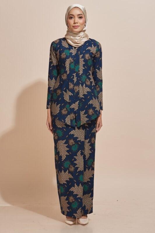 Habra Haute Kara Kebaya Batik Kebaya Moden Kebaya Modern Baju Kurung Batik Baju Kebaya Malaysia Batik Indonesia Batik Malaysia Raya Koleksi Raya 2019 KR52