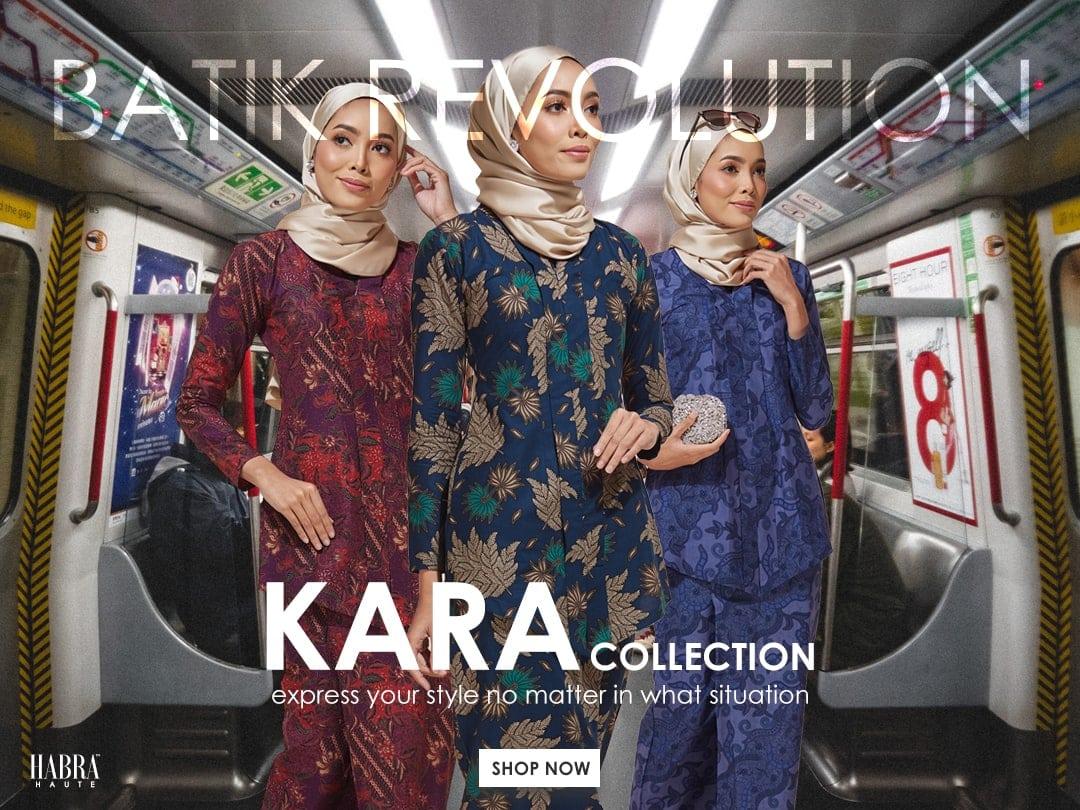 Habra Haute Kara Kebaya Batik Kebaya Moden Kebaya Modern Koleksi Raya 2019 Batik Indonesia Batik Malaysia Mobile