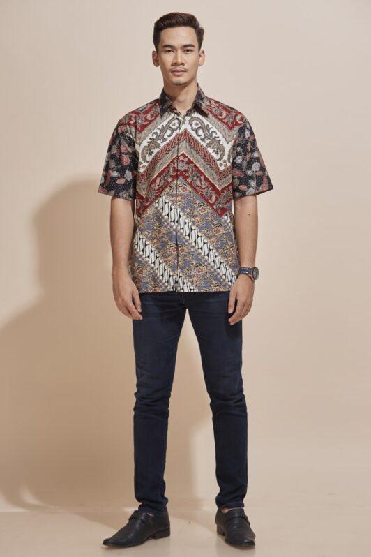 Habra Haute Khaled Kemeja Batik Lelaki Batik Malaysia Batik Indonesia Regular Fit KH47 (5)