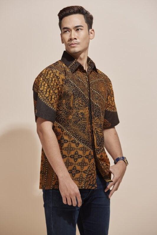 Habra Haute Khaled Kemeja Batik Lelaki Batik Malaysia Batik Indonesia Regular Fit KH48