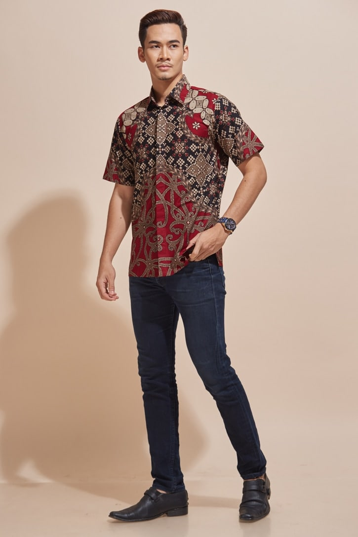 Habra Haute Khaled Kemeja Batik Lelaki Batik Malaysia Batik Indonesia Regular Fit KH49