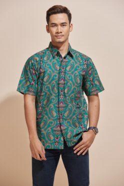 Habra Haute Khaled Kemeja Batik Lelaki Batik Malaysia Batik Indonesia Regular Fit KH50