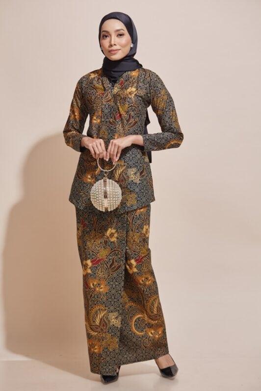 HABRA Haute Baju Kebaya Malaysia Moden Kebaya Kain Batik Baju Kebaya Nyonya Baju Kebaya Labuh Kebaya Batik Cotton Kara Kebaya - KR54