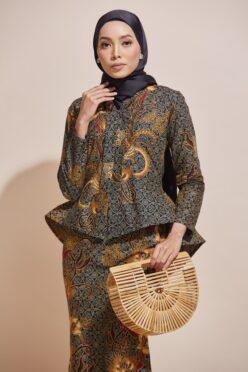 HABRA Haute Baju Kebaya Malaysia Moden Kebaya Kain Batik Baju Kebaya Nyonya Baju Kebaya Labuh Kebaya Batik Cotton Kebaya Kembang Kebaya Peplum Baju Kurung Moden Kaisara Kebaya - KS18 (1 (3)