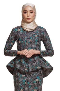 HABRA Haute Baju Kebaya Malaysia Moden Kebaya Kain Batik Baju Kebaya Nyonya Baju Kebaya Labuh Kebaya Batik Cotton Kebaya Kembang Kebaya Peplum Baju Kurung Moden Kaisara Kebaya -KS21