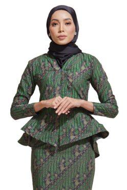 HABRA Haute Baju Kebaya Malaysia Moden Kebaya Kain Batik Baju Kebaya Nyonya Baju Kebaya Labuh Kebaya Batik Cotton Kebaya Kembang Kebaya Peplum Baju Kurung Moden Kaisara Kebaya -KS23