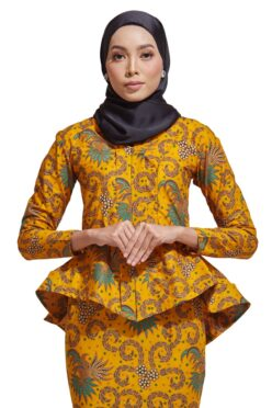 HABRA Haute Baju Kebaya Malaysia Moden Kebaya Kain Batik Baju Kebaya Nyonya Baju Kebaya Labuh Kebaya Batik Cotton Kebaya Kembang Kebaya Peplum Baju Kurung Moden Kaisara Kebaya -KS27