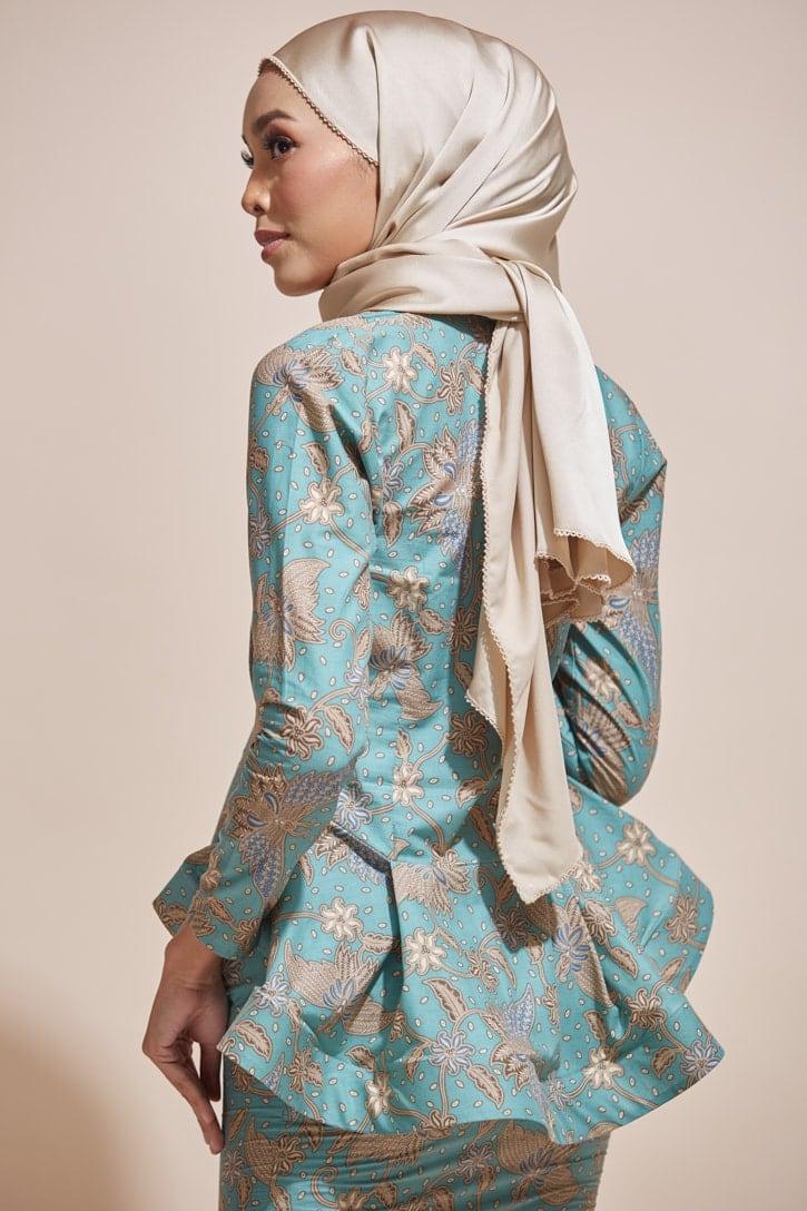 HABRA Haute Baju Kebaya Malaysia Moden Kebaya Kain Batik Baju Kebaya Nyonya Baju Kebaya Labuh Kebaya Batik Cotton Kebaya Kembang Kebaya Peplum Baju Kurung Moden Kaisara Kebaya -KS28