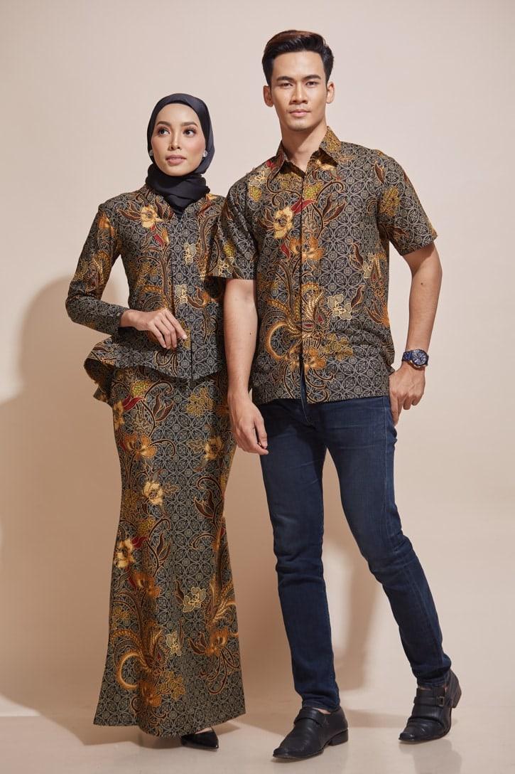 HABRA Haute Baju Kebaya Malaysia Moden Kebaya Kain Batik Baju Kebaya Nyonya Baju Kebaya Labuh Kebaya Batik Cotton Kebaya Kembang Kebaya Peplum kEMEJA Batik Kaisara Kebaya - KH54 KS18