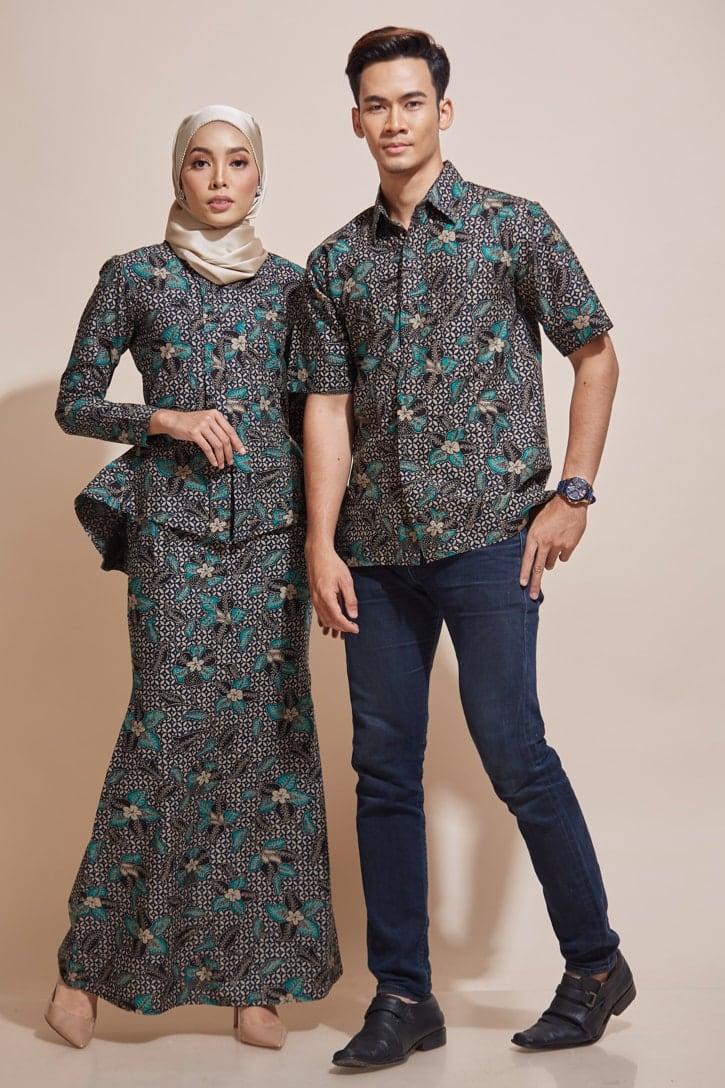HABRA Haute Baju Kebaya Malaysia Moden Kebaya Kain Batik Baju Kebaya Nyonya Baju Kebaya Labuh Kebaya Batik Cotton Kebaya Kembang Kebaya Peplum kEMEJA Batik Kaisara Kebaya - KH58 KS22 (1