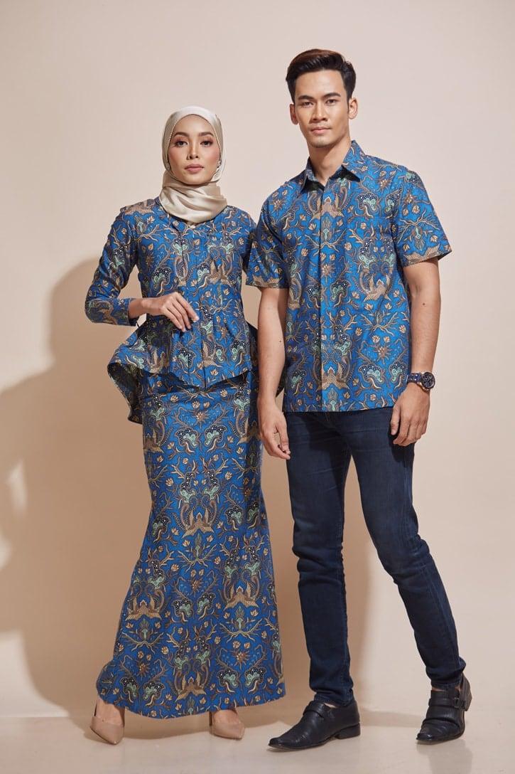 HABRA Haute Baju Kebaya Malaysia Moden Kebaya Kain Batik Baju Kebaya Nyonya Baju Kebaya Labuh Kebaya Batik Cotton Kebaya Kembang Kebaya Peplum kEMEJA Batik Kaisara Kebaya - KH60 KS24
