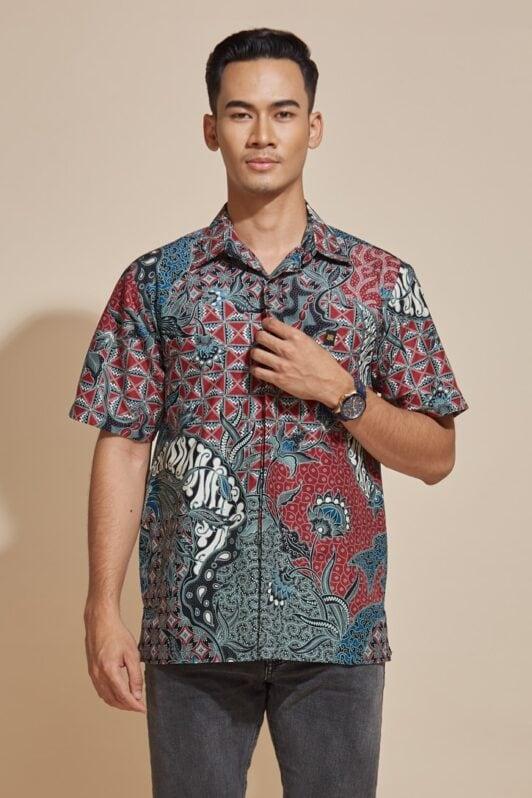habra haute batik sedondon couple set kebaya batik malaysia indonesia batik cotton kebaya moden kebaya peplum kebaya batik jawa modern batik 2019 khaled kemeja kh86