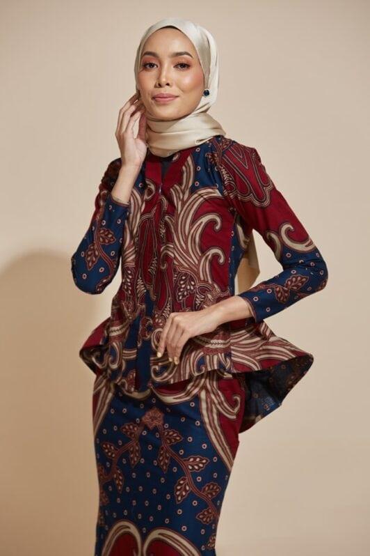 habra haute kebaya nyonya kebaya batik malaysia indonesia batik cotton kebaya moden kebaya batik jawa kebaya batik modern kebaya batik 2019 kaisara kebaya peplum ks79