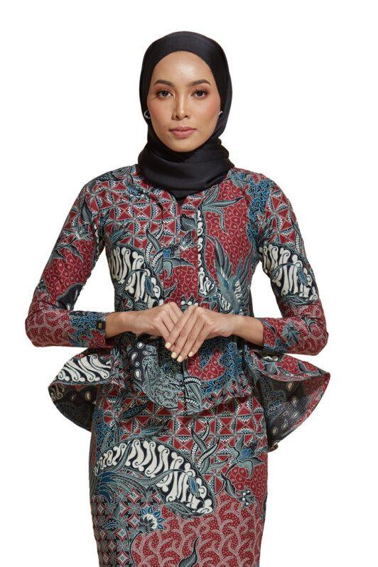 habra haute kebaya nyonya kebaya batik malaysia indonesia batik cotton kebaya moden kebaya peplum kebaya batik jawa kebaya batik modern kebaya batik 2019 kaisara ks86