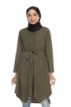 Avva madison top blouse muslimah blouse cantik blouse labuh blouse putih blouse and - army green