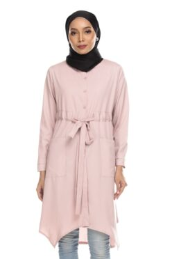 Avva madison top blouse muslimah blouse cantik blouse labuh blouse putih blouse and - pink