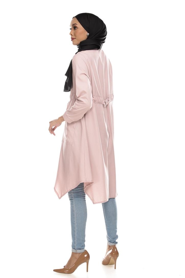 Avva madison top blouse muslimah blouse cantik blouse labuh blouse putih blouse and - pink