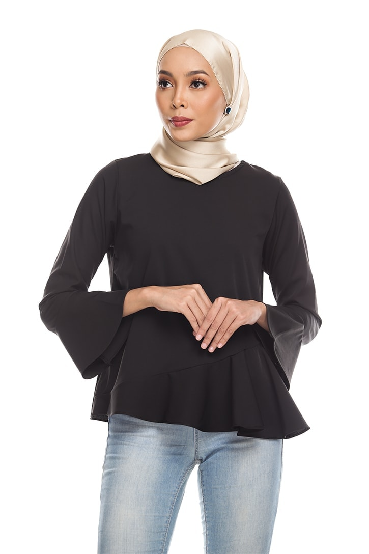 Habra Keara Kate blouse cantik blouse muslimah blouse designs blouse murah blouse and pants blouse Kate Black