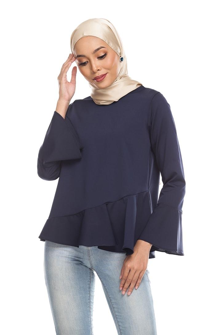 Habra Keara Kate blouse cantik blouse muslimah blouse designs blouse murah blouse and pants blouse Kate Blue