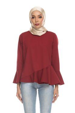 Habra Keara Kate blouse cantik blouse muslimah blouse designs blouse murah blouse and pants blouse Kate Maroon