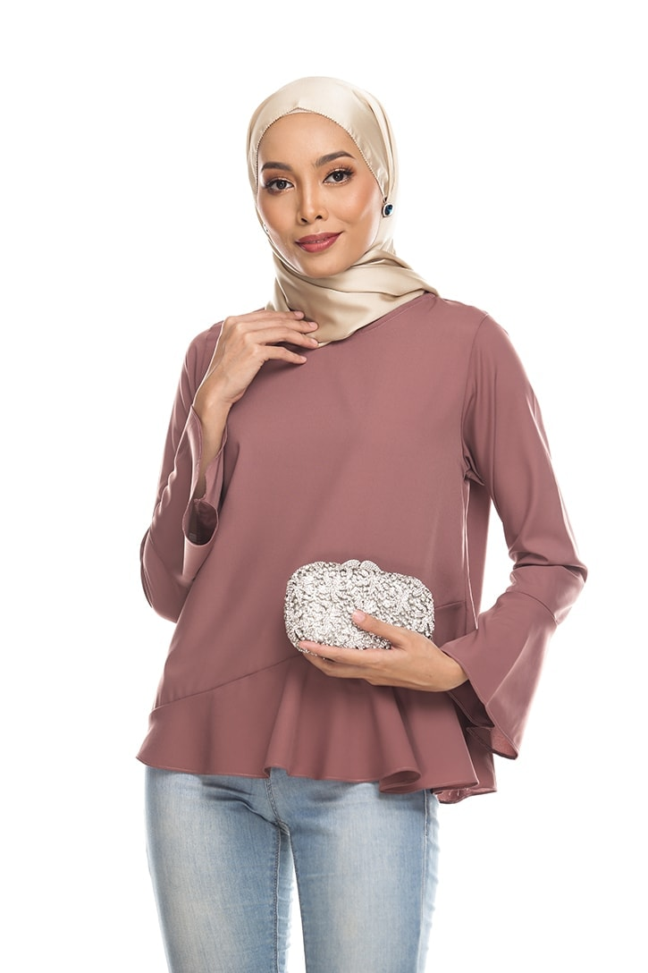 Habra Keara Kate blouse cantik blouse muslimah blouse designs blouse murah blouse and pants blouse Kate Taupe