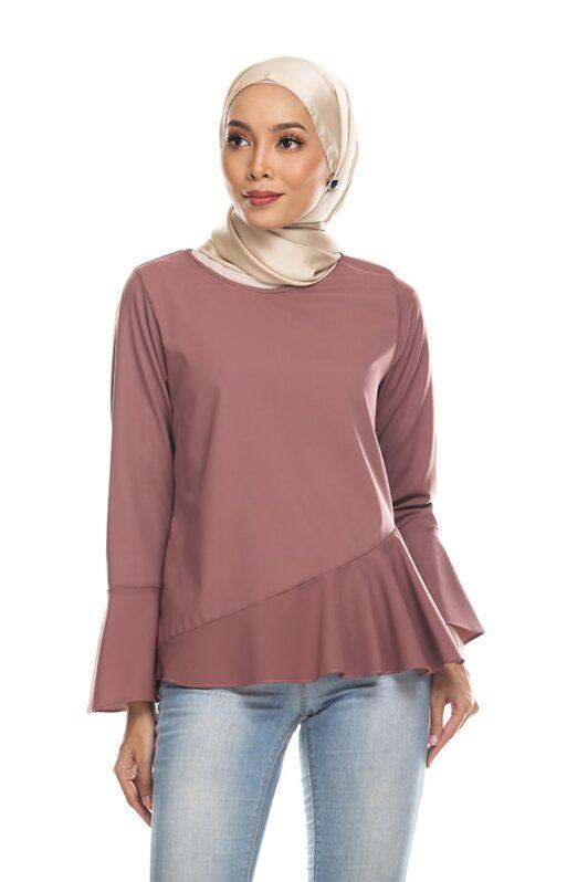 Habra Keara Kate blouse cantik blouse muslimah blouse designs blouse murah blouse and pants blouse Kate Taupe