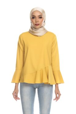 Habra Keara Kate blouse cantik blouse muslimah blouse designs blouse murah blouse and pants blouse Kate Yellow