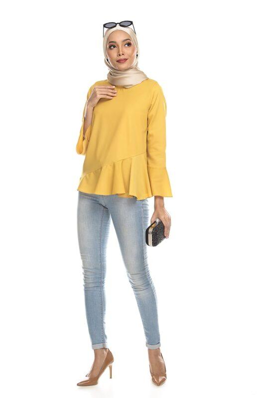 Habra Keara Kate blouse cantik blouse muslimah blouse designs blouse murah blouse and pants blouse Kate Yellow