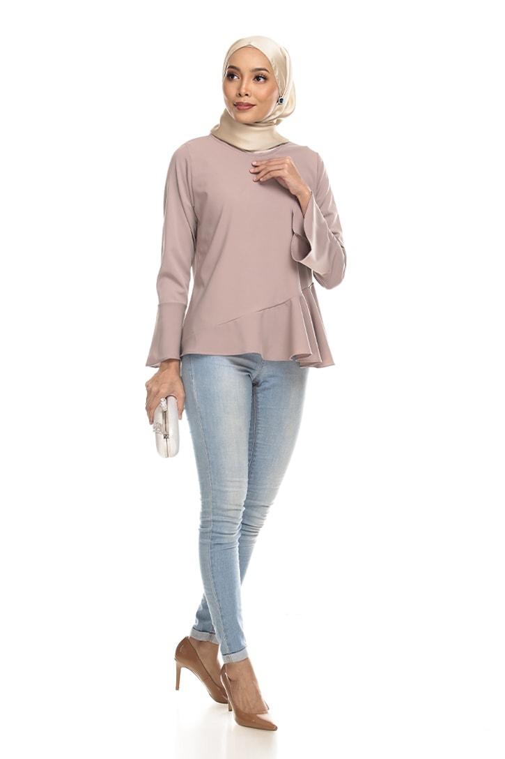 Habra Keara Kate blouse cantik blouse muslimah blouse designs blouse murah blouse and pants blouse Mauve
