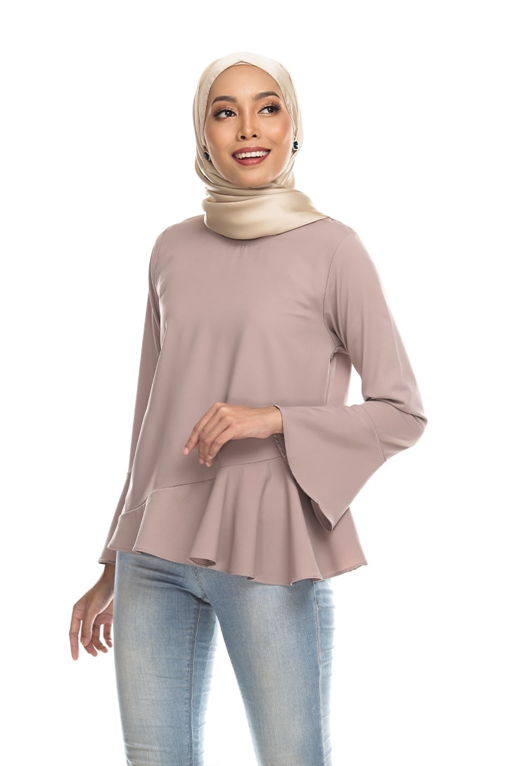 Habra Keara Kate blouse cantik blouse muslimah blouse designs blouse murah blouse and pants blouse Mauve