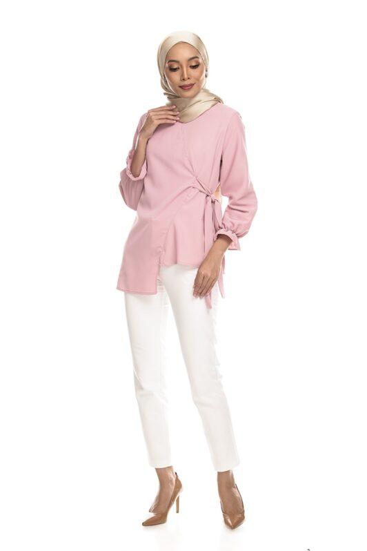 Habra Keara Kaylie blouse cantik blouse muslimah blouse designs blouse murah blouse and pants blouse Kaylie Pink