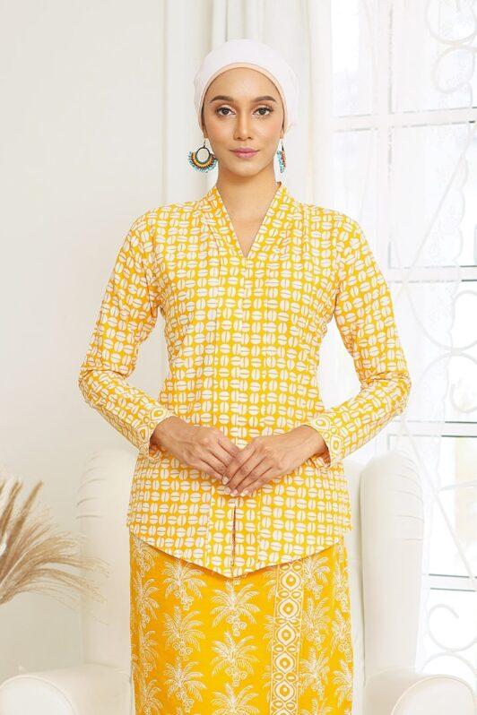 Baju Kebaya Batik Baju Kebaya Moden Kebaya Nyonya Kebaya Riau Kebaya Ruffle Habra Haute Dahlia Kebaya Yellow