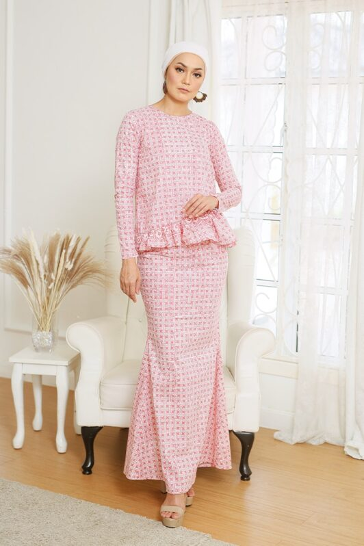 Baju Kurung Ruffle Kurung Moden Kurung Modern Baju Kurung Riau Baju Kurung Peplum Viral Baju Kurung Pastel Baju Kurun Pink Baju Kurung Jasmin