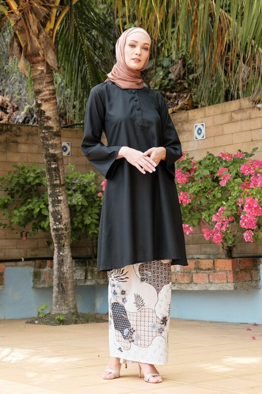 KD02 baju kurung pahang baju kurung cekak musang baju kurung batik baju kurung moden baju kurung labuh hitam nude kadija habra haute