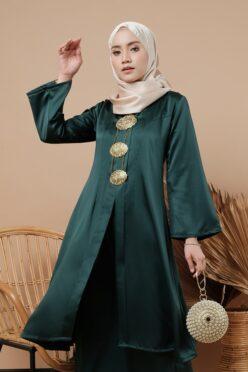 habra haute kebaya labuh riau kadija kebaya labuh tradisional kebaya labuh moden klasik kebaya labuh indonesia hijau KD16