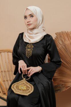 habra haute kebaya labuh riau kadija kebaya labuh tradisional kebaya labuh moden klasik kebaya labuh indonesia hitam KD17