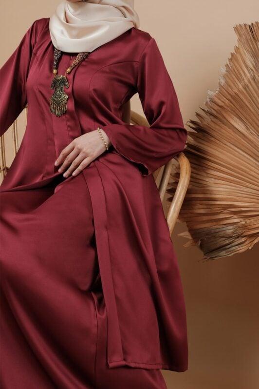 habra haute kebaya labuh riau kadija kebaya labuh tradisional kebaya labuh moden klasik kebaya labuh indonesia merah KD15 3