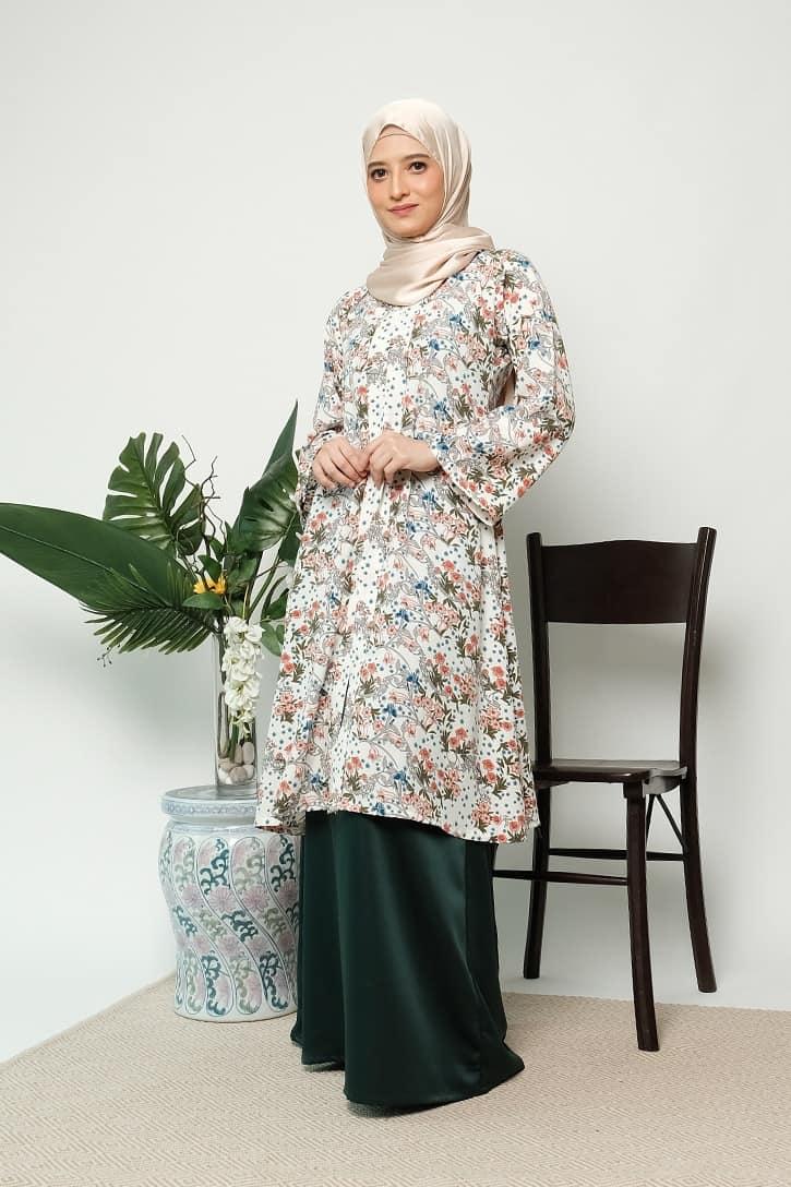 habra haute kebaya labuh riau kebaya labuh tradisional kebaya labuh moden klasik kebaya labuh indonesia hijau KD21 4