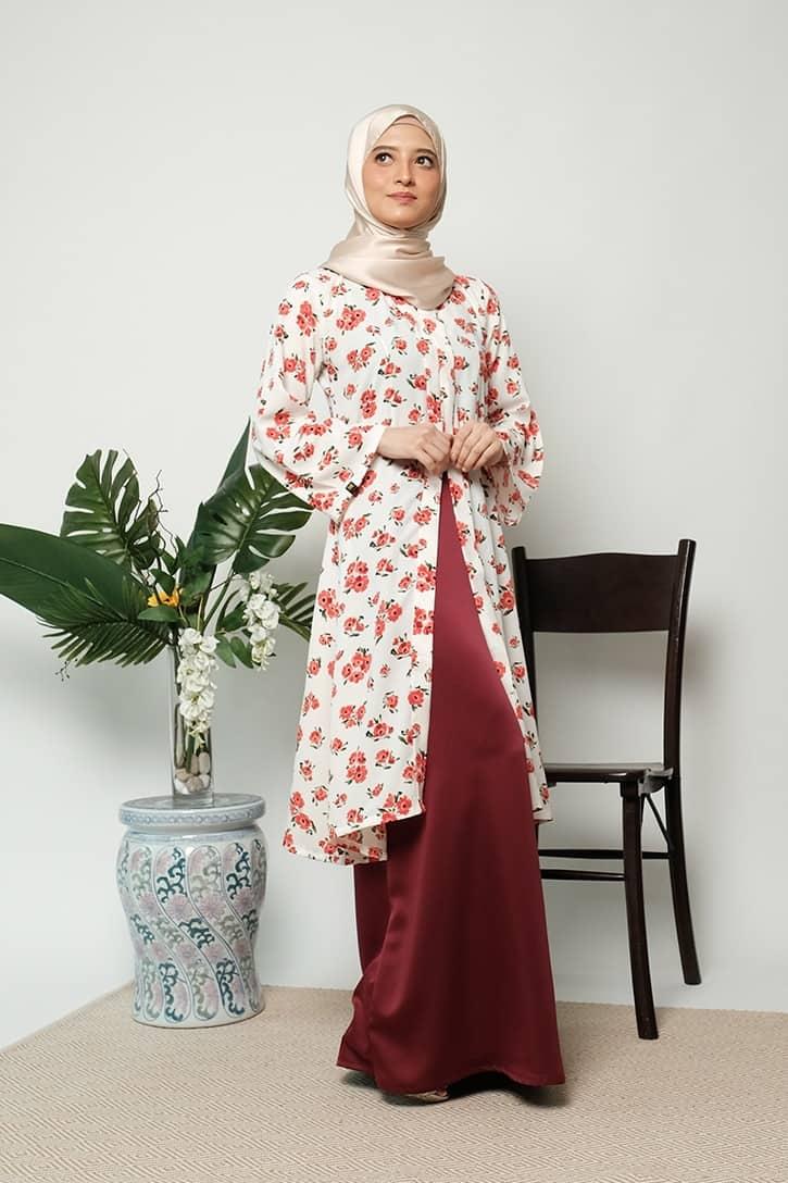 habra haute kebaya labuh riau kebaya labuh tradisional kebaya labuh moden klasik kebaya labuh indonesia merah KD20 4