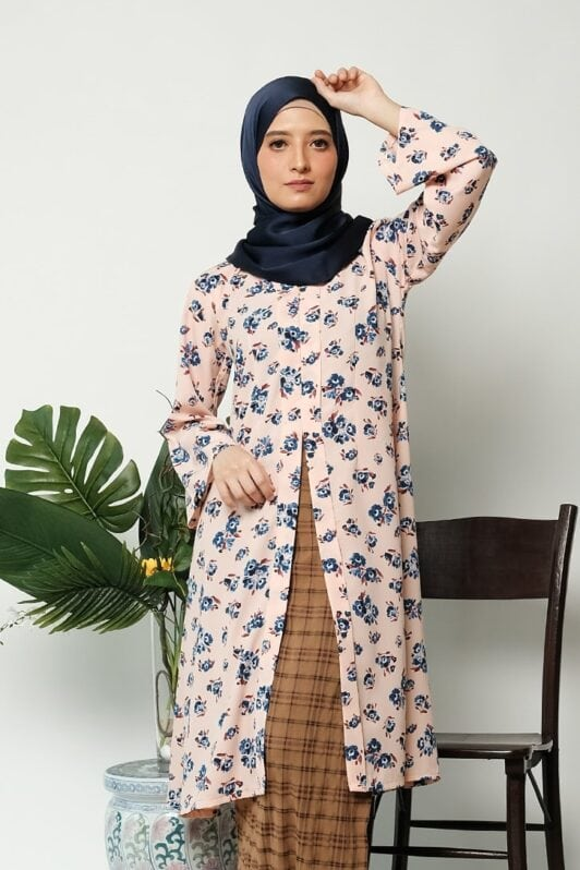 habra haute kebaya labuh riau kebaya labuh tradisional kebaya labuh moden klasik kebaya labuh indonesia pink KD23 2