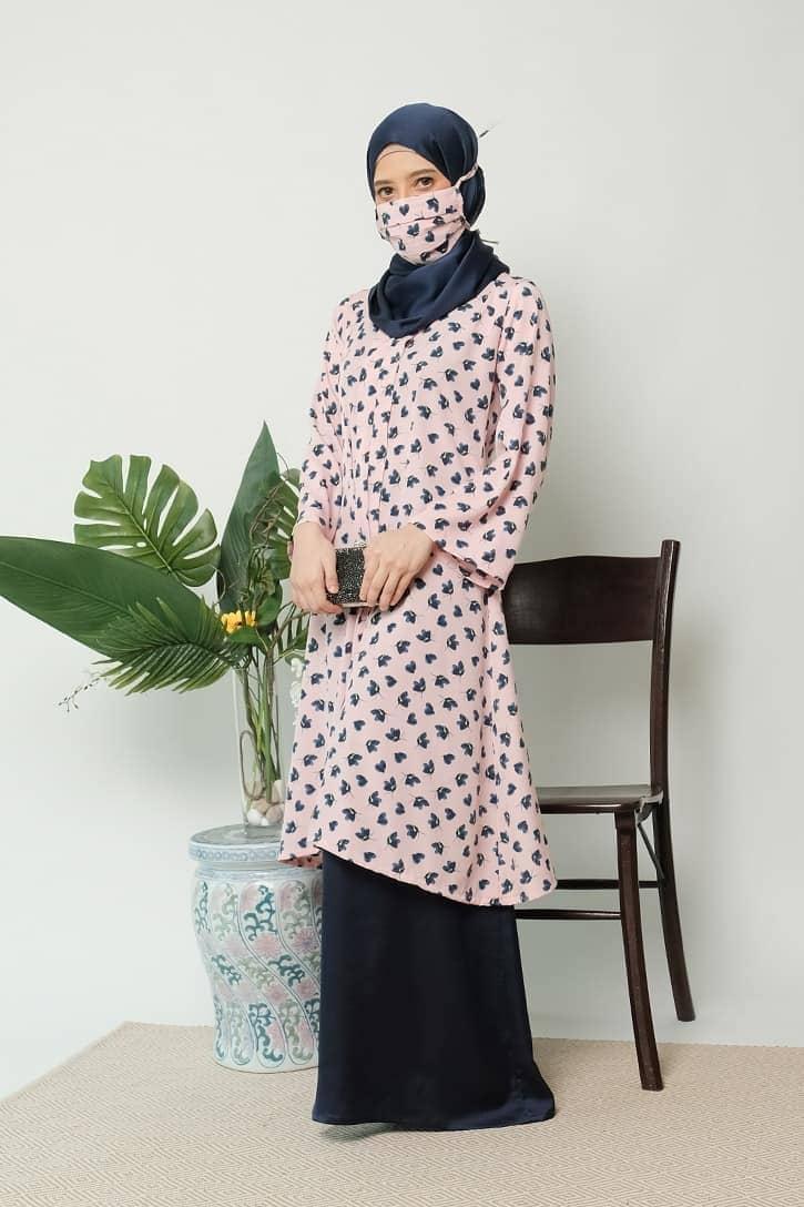 habra haute kebaya labuh riau kebaya labuh tradisional kebaya labuh moden klasik kebaya labuh indonesia pink KD24 4