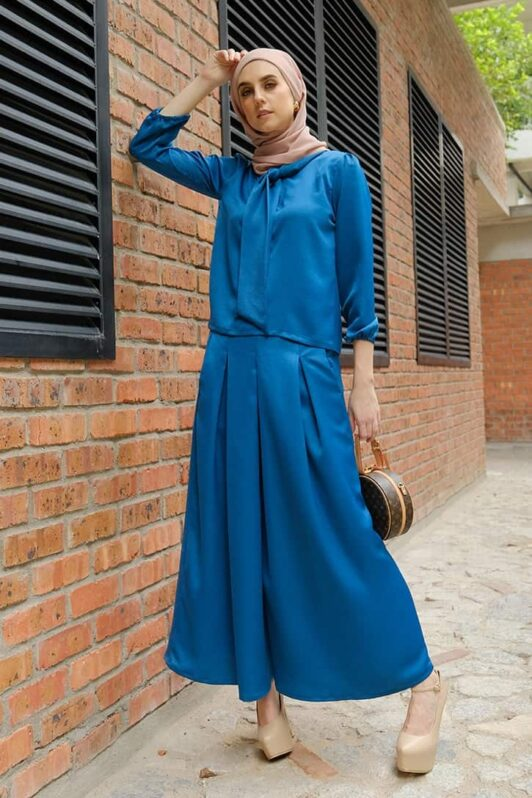 Habra evelyn suit casual wear women muslimah casual wear malaysia casual wear for ladies kasual wanita kasual smart EV10 sapphire